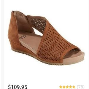 Earth Leather Wedge Sandals